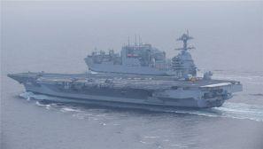 """美国福特级航母首舰""""福特号""""海试图曝光"""