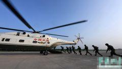 武警山西总队直升机大队组织直升机人机融合训练