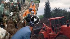 武警部队全力投入贵州毕节山体滑坡救援