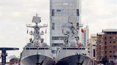中国海军第26批护航编队结束友好访英后离开伦敦