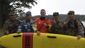 中美军队交流抢险救灾经验