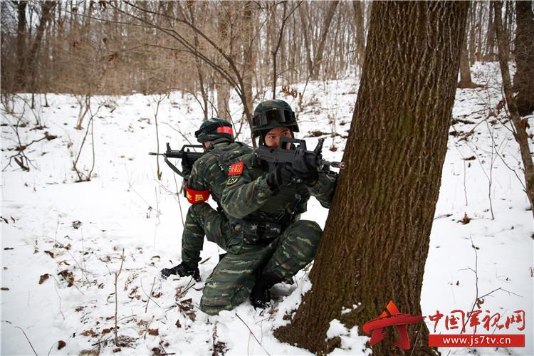 日前,武警吉林省总队组织特战队员在吉林桦甸威虎岭一带的深山密林中开展四季度魔鬼周极限训练,一场精彩的红蓝对决在此上演。   不许动!不许动!狡猾的蓝军先是用脚印把特战队员引到山坳里,尔后利用小河沟前进,企图迷惑前来武装追逃的长春支队特战官兵,让他们寻无踪迹。    长春支队特战队员接到命令后部署作战任务    特战小组乘车赶到任务地域    特战队员向丛林深处搜索    特战队员搜索前进    特战队员正在研究战法   绝对不能轻敌!曾多次带领特战队员参加魔鬼周极限训练的长春支队