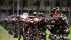 武警广西总队南宁支队组织实弹射击训练