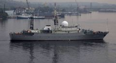 俄侦察船再现美国沿海,美国承认其自由航行权