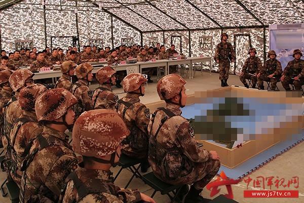 图九:军官编组作业示范观摩