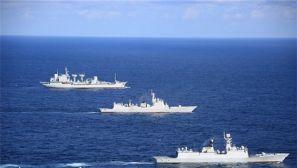 第二十七批护航编队在陌生海域练兵备战剪影