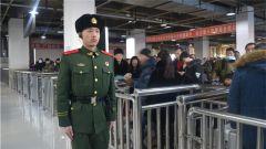 武警牡丹江支队为春运护航展示执勤官兵良好形象