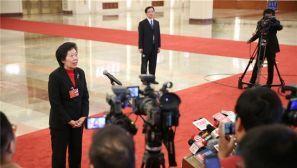 人大会议第七次全体会议:采访部长