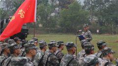 阳春三月,陆军某训练基地开训练兵