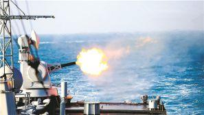 东海舰队某驱逐舰支队开展海上实战化训练