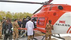 直升机,为抢救病危军人起飞