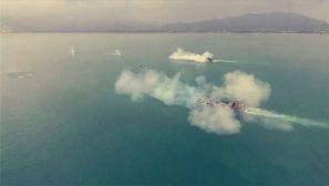 动图丨两栖战车海上射击 新训射手打了个满堂彩