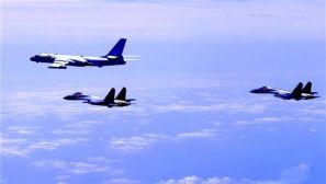 """高清:中国空军多型战机连续""""绕岛巡航""""检验实战能力"""