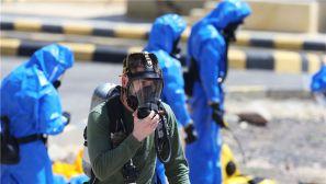 3500名美国士兵与约旦士兵参加化武袭击演习