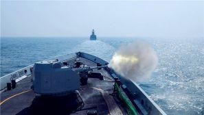 向海图强,舰艇编队一路硝烟向战场