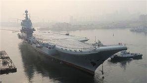 图集:我国第二艘航母首次出海试验