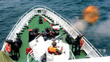 武警广东海警开展海上多型武器实弹射击