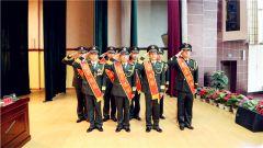 战支部队某部隆重举行2018干部退役仪式