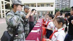 陆军边海防学院昆明校区:长征路上牵手长征小学