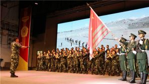 武警新疆总队举办歌咏比赛庆祝建党97周年