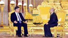 中柬建交60周年 习近平同柬埔寨国王互致贺电