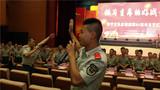 演处开始前,官兵们组织拉歌比赛