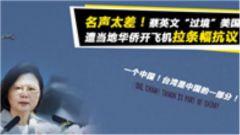 """蔡英文""""过境""""美国,遭当地华侨开飞机拉条幅抗议"""