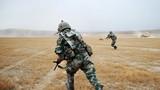 进攻战斗行动中,装甲步兵采取交替掩护的方式向蓝军发起冲击。
