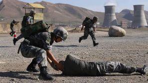 第22批赴刚果(金)维和分队组织模拟营区防卫演练