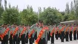 老兵宛锐代表老兵,重温了军人誓词。