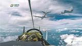 红方战机进行空中加油。