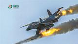 红方战机对蓝方地面目标实施火力打击。