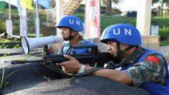 中国赴刚果(金)维和分队组织昼夜应急防卫演练