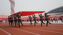 """武警蚌埠支队""""护旗队""""助力省运会"""