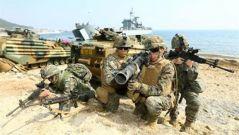 韩美海军陆战队联合军演重启