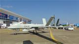 彩虹-4无人机机翼近观。