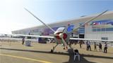彩虹-5无人机尾部展示。