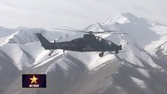 【第一军视】画面太美!武直-10编队穿越雪山峡谷