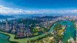 """厦门努力建设""""五大发展""""示范市、高素质现代化国际化城市。图为厦门白鹭洲筼筜湖。"""
