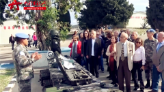 黎巴嫩使节团访问中国维和部队