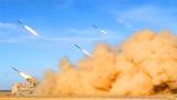 一声令下,火箭炮怒吼射击。