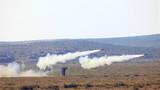 单兵防空火箭精确打击。