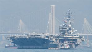 """美軍核動力航母""""里根""""號戰斗群訪問香港"""