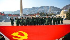 """武警甘肃总队:让新兵从兵之初盖好""""红色印章"""""""