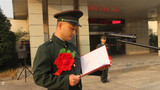 退役士兵代表讲话。