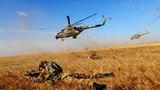 陸航和步兵進行聯合突擊