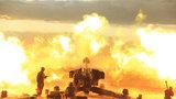 炮兵群夜間實彈射擊火光沖天