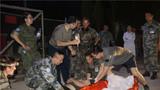 直升機醫療后送頸椎脫位的芬蘭維和軍人。(現場圖片)