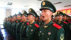 武警云南总队普洱支队举行新兵授衔宣誓仪式