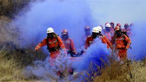 武警长治支队上演一场应急救援训练